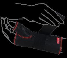 Бандаж на лучезапястный сустав с ребром жесткости (с фиксацией пальца) (арт. R8304)